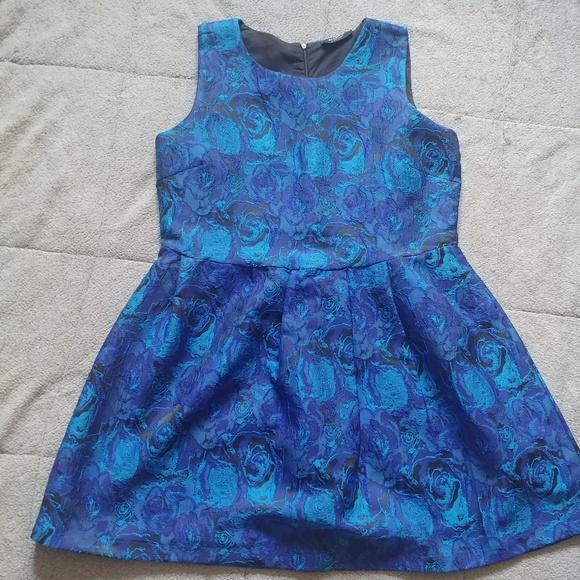 Allen B. By Allen Schwartz Dresses & Skirts - Fit & Flare Blue/Indigo Brocade Dress